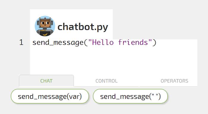 Trivia python chatbot screenshot