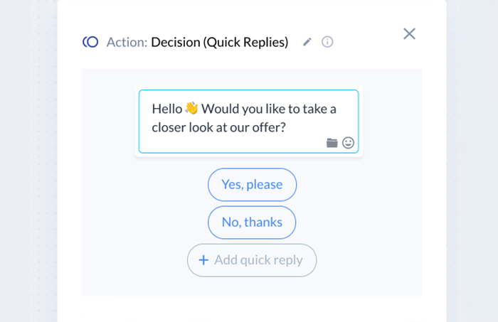 engage customers with chatbot