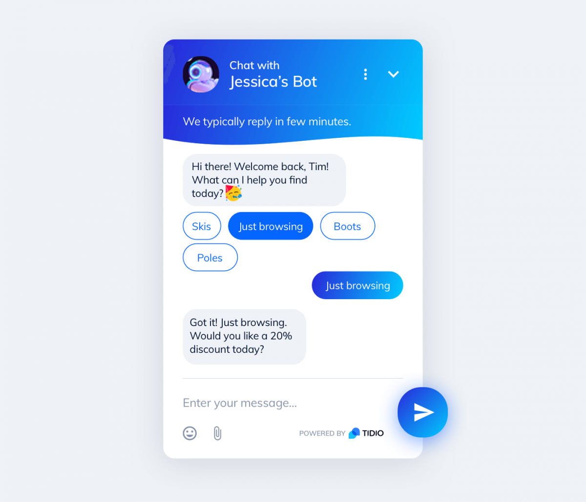 Conversational bot for eCommerce