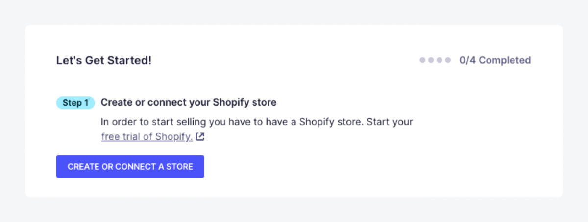 First step of how to create a shopify store