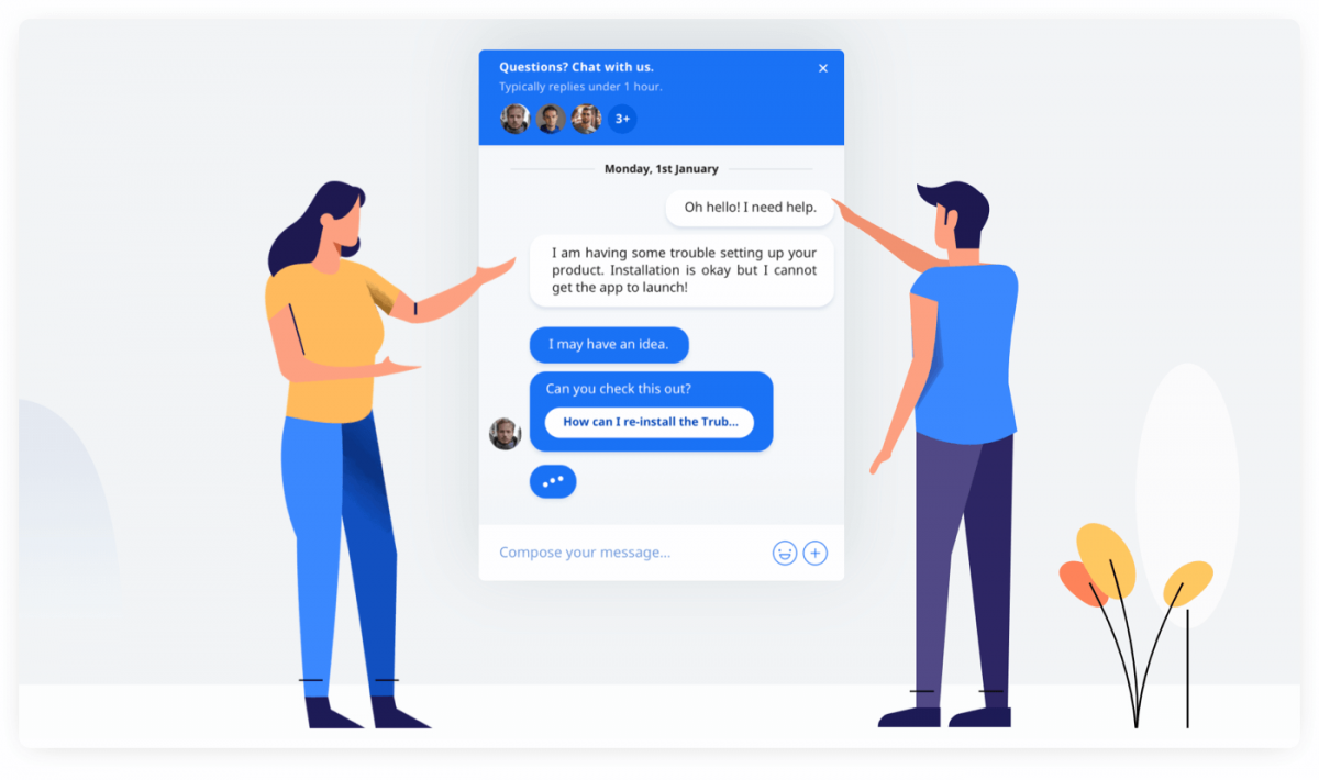 Crisp chat widget preview