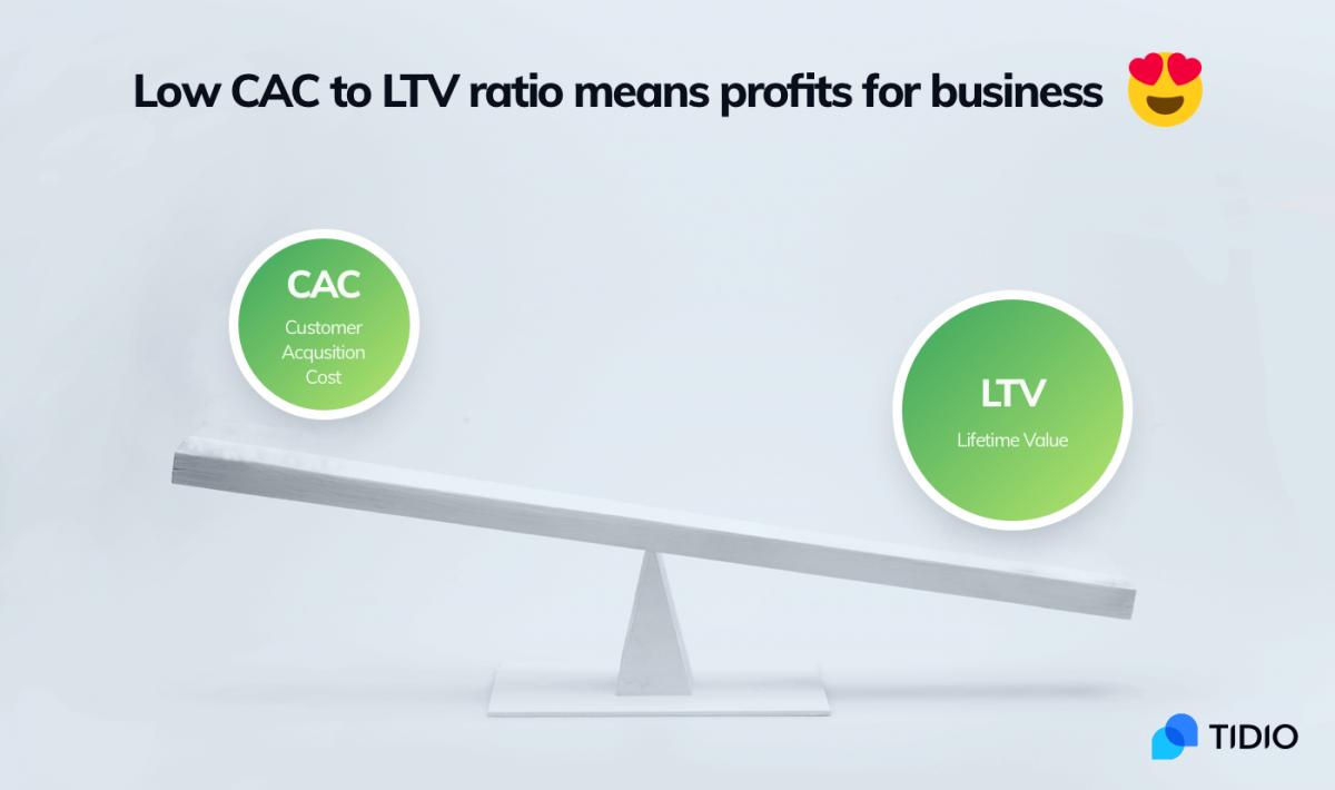 Good CAC to LTV ratio.