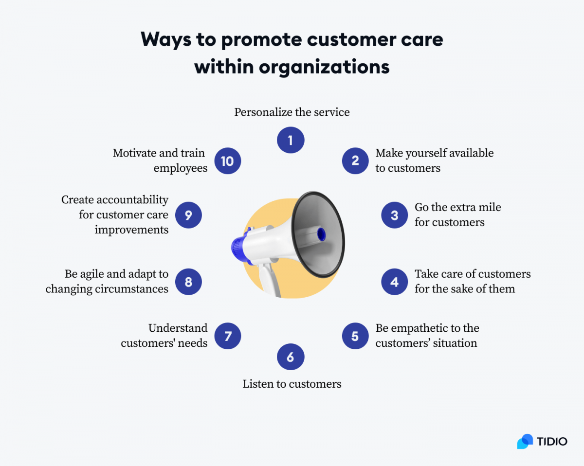 Ways to promote customer care within organizations