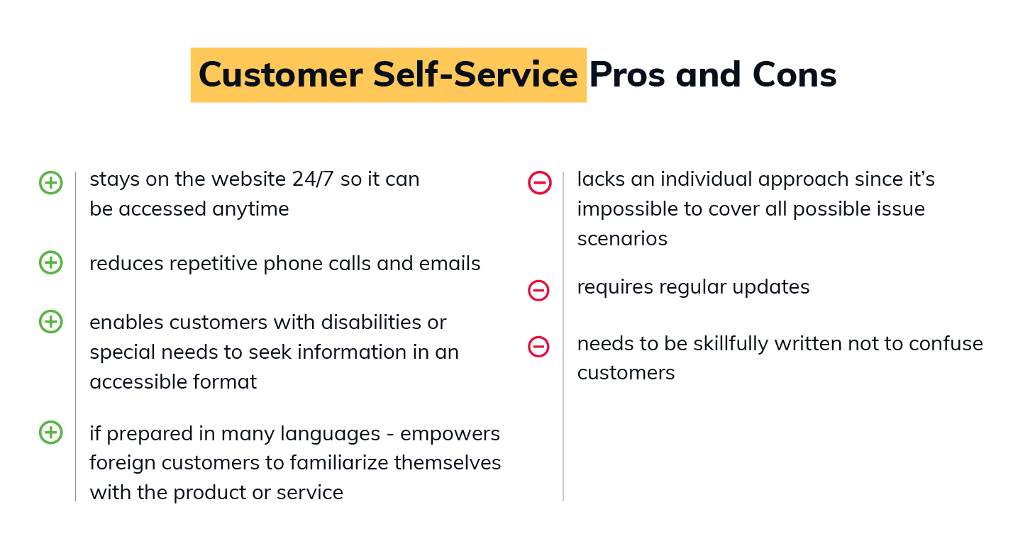 Pros and Cons of Customer Self Service