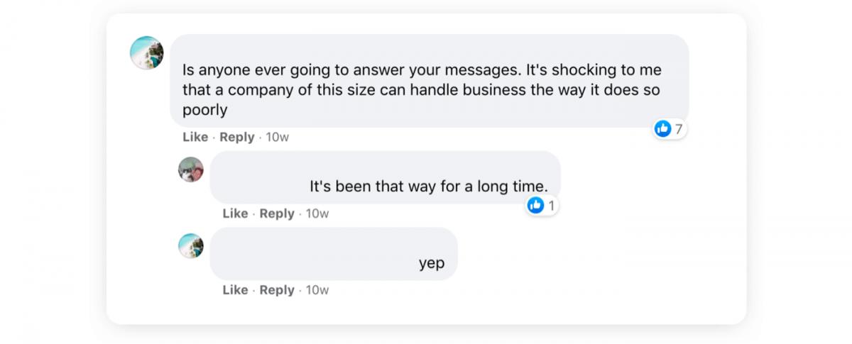 Customer feedback on social media
