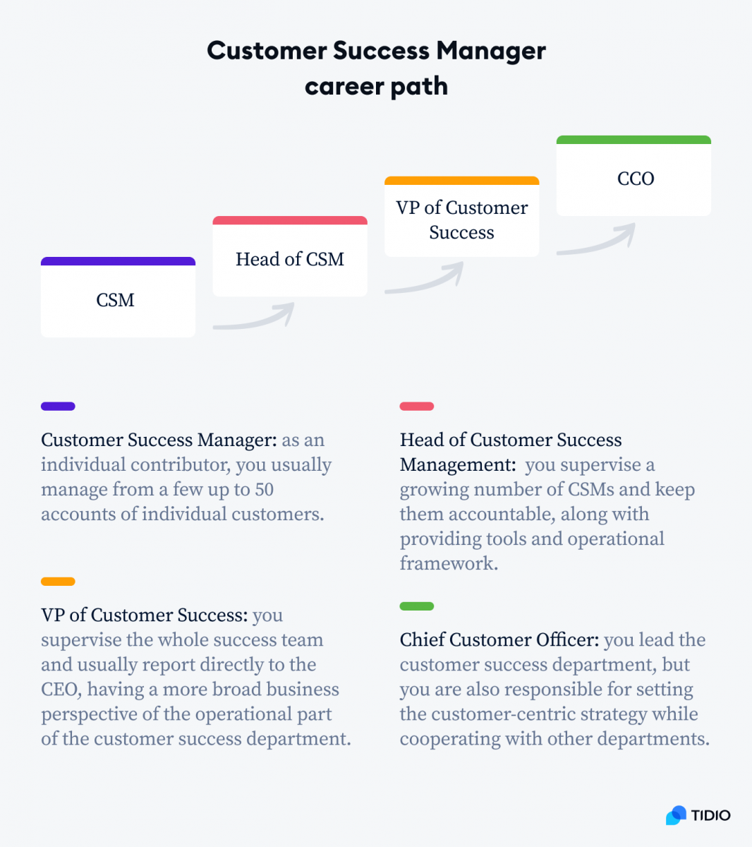 Customer Success Manager career path infographic
