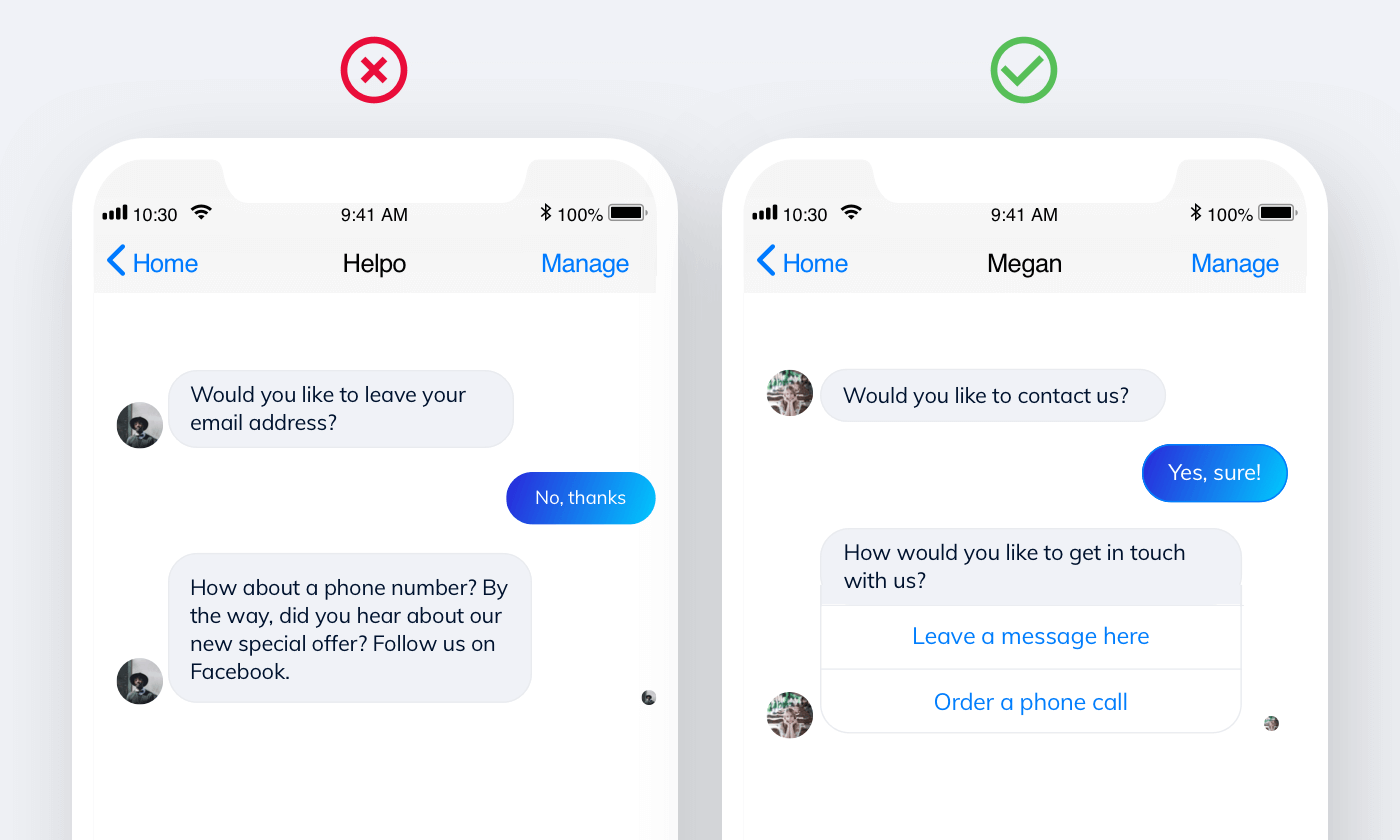 keep your chatbot conversations focused