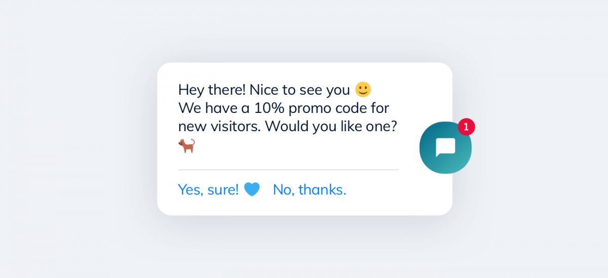 A discount chatbot helps with generating more sales for your online business