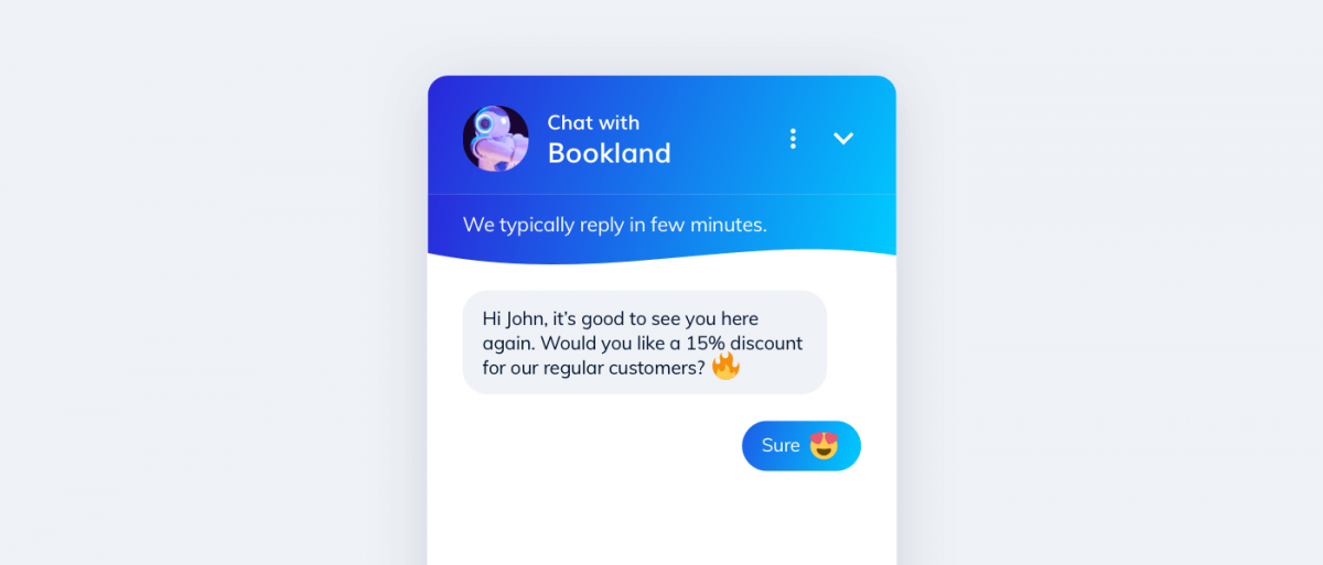 A discount chatbot in Tidio widget