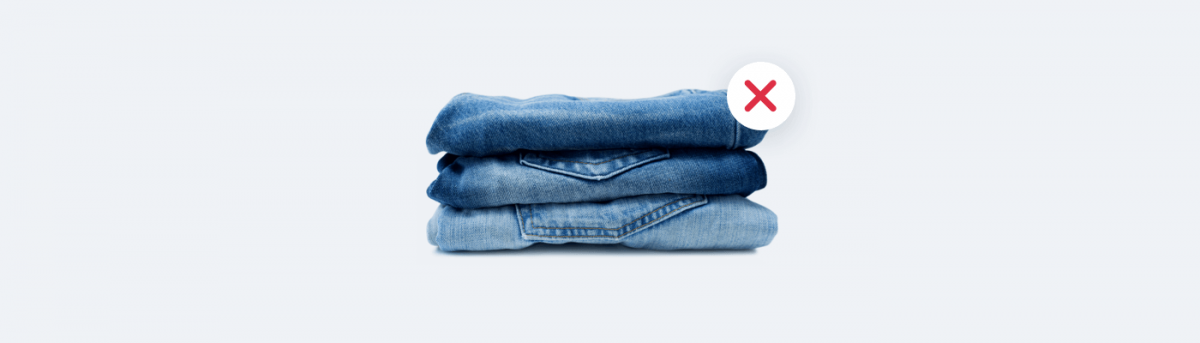 Things you should not sell online - jeans
