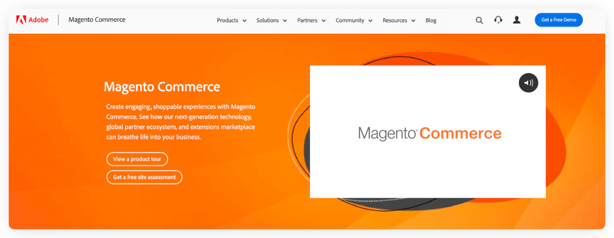 Magento homepage