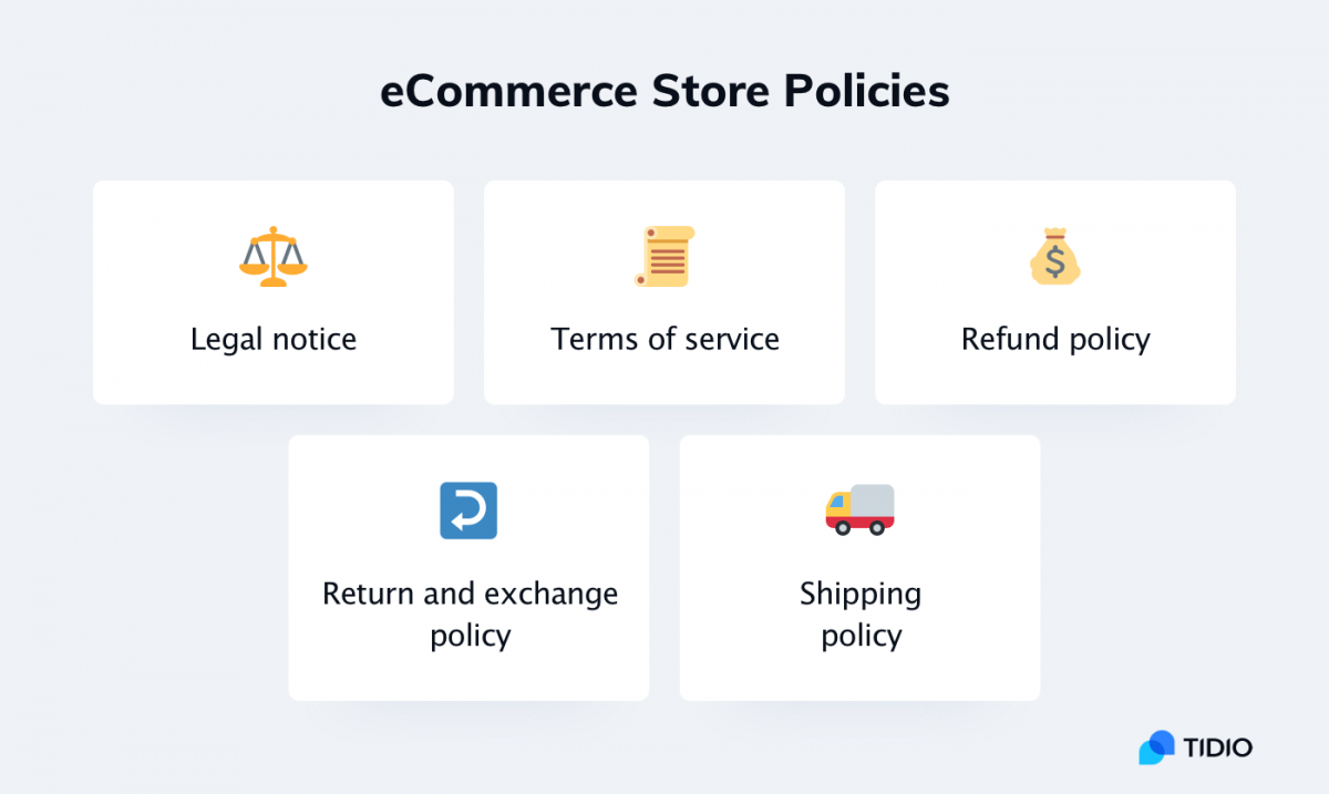 Online store policies