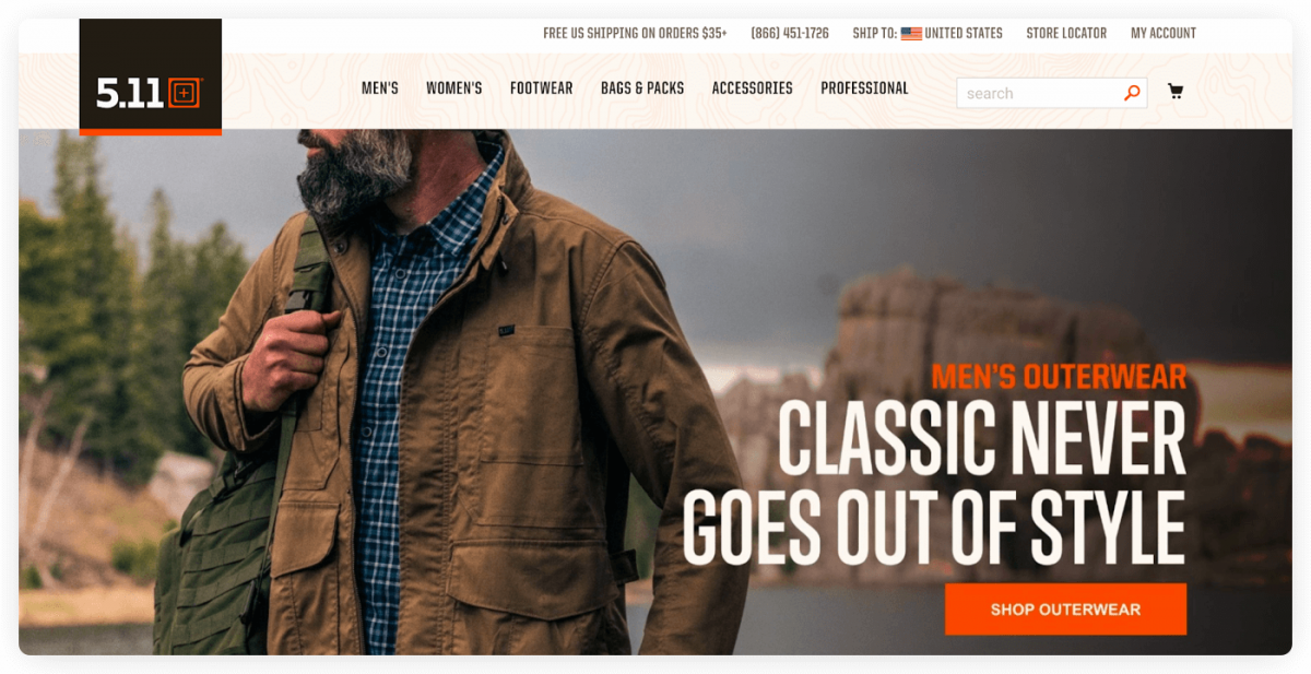511 Tactical homepage