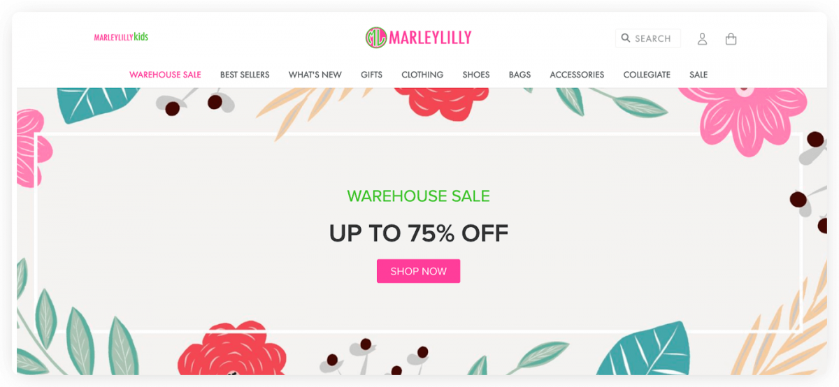 Marleylilly eCommerce website