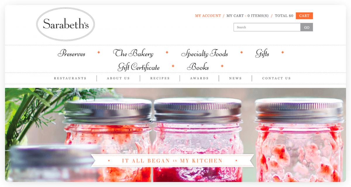 Sarabeth's Bakery homepage