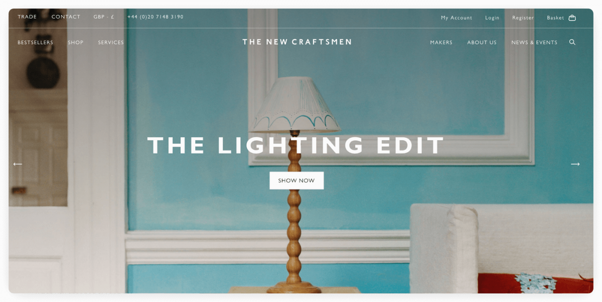 The New Craftsmen homepage