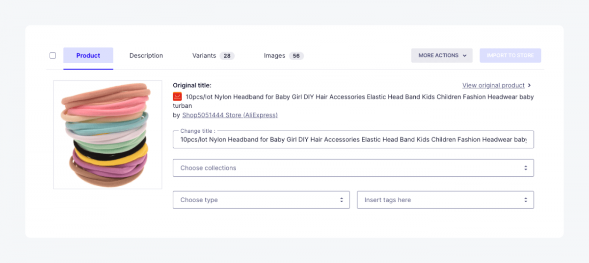 How to edit product descriptions, images and variant details in Oberlo