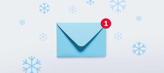 envelope with notification