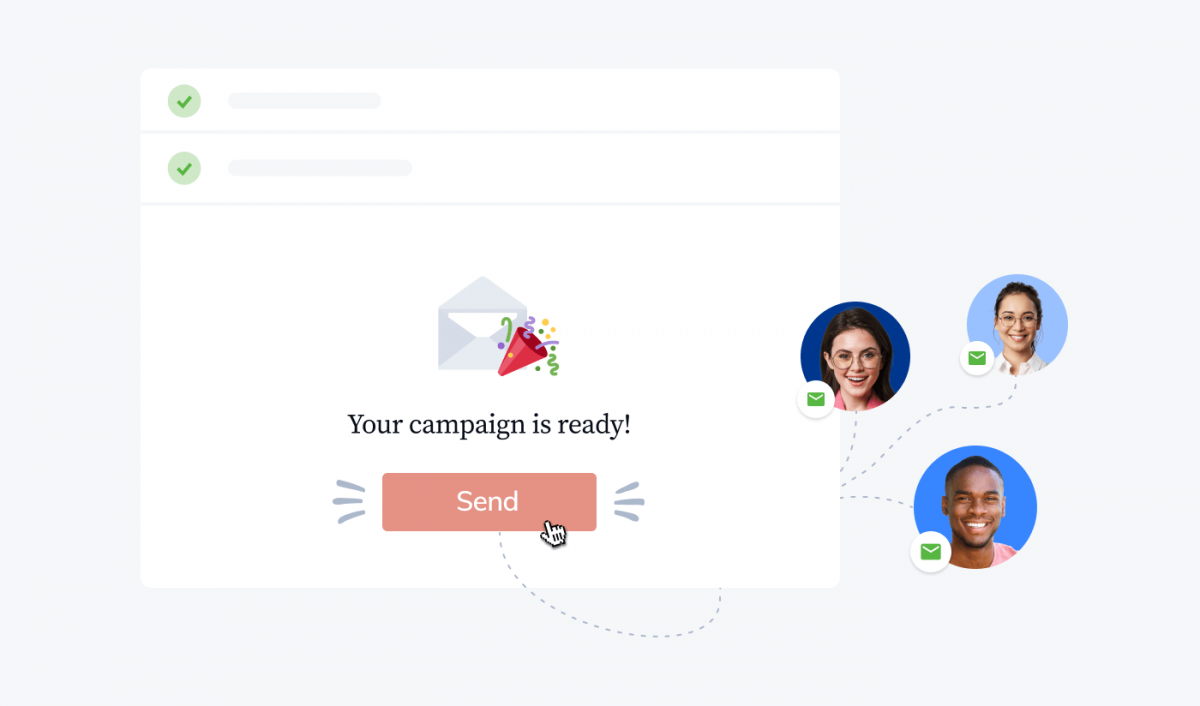 The process of sending an email campaign to leads