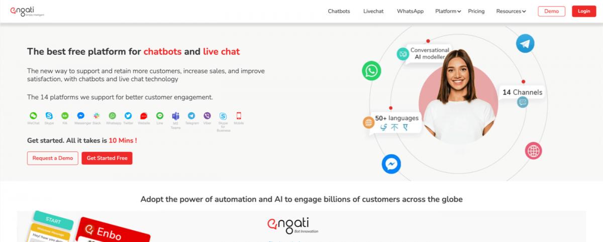 AI chatbot service - Engati