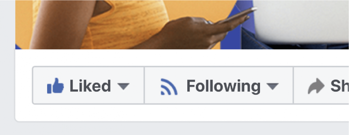 Liked/Followerd buttons on Facebook