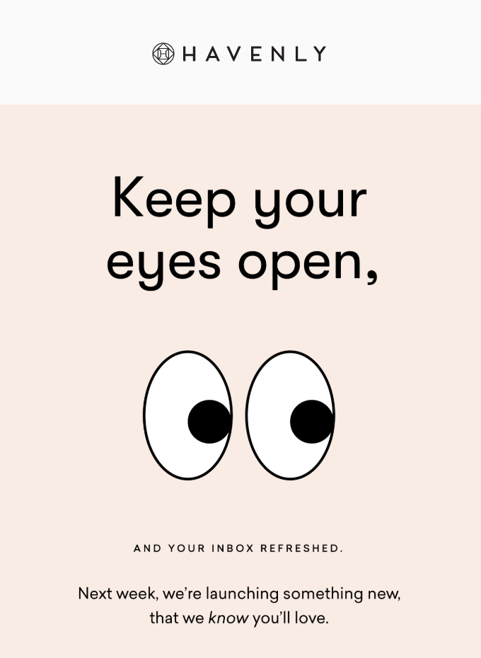 A cartoon ad that shows a pair of eyes