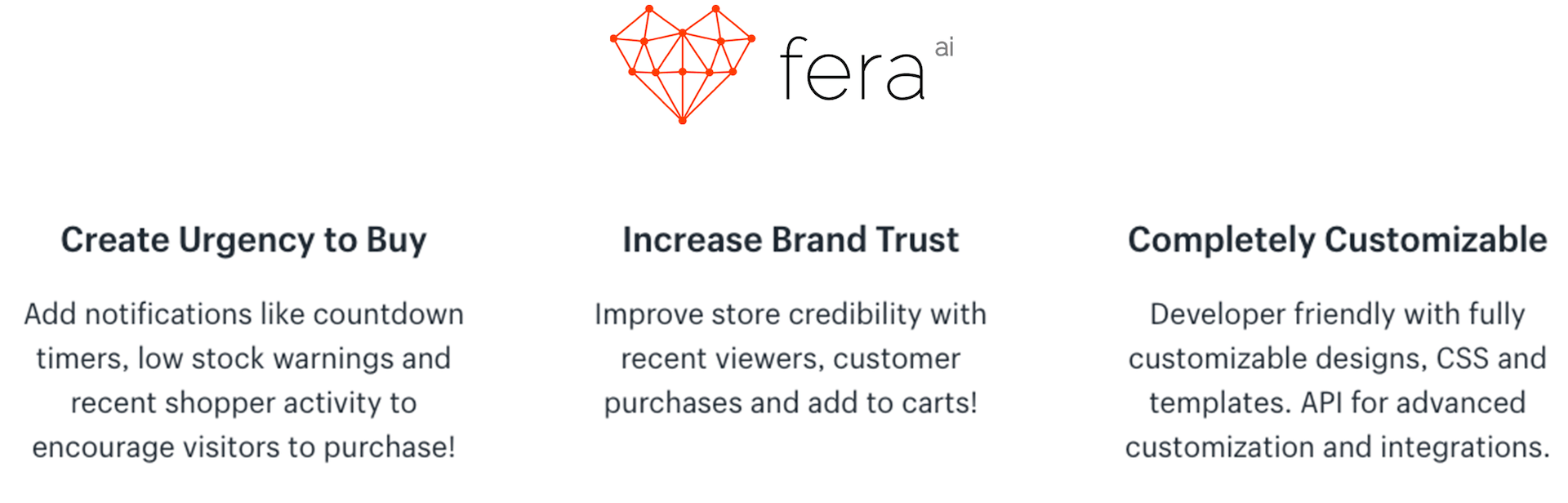 fera - social proof and timers
