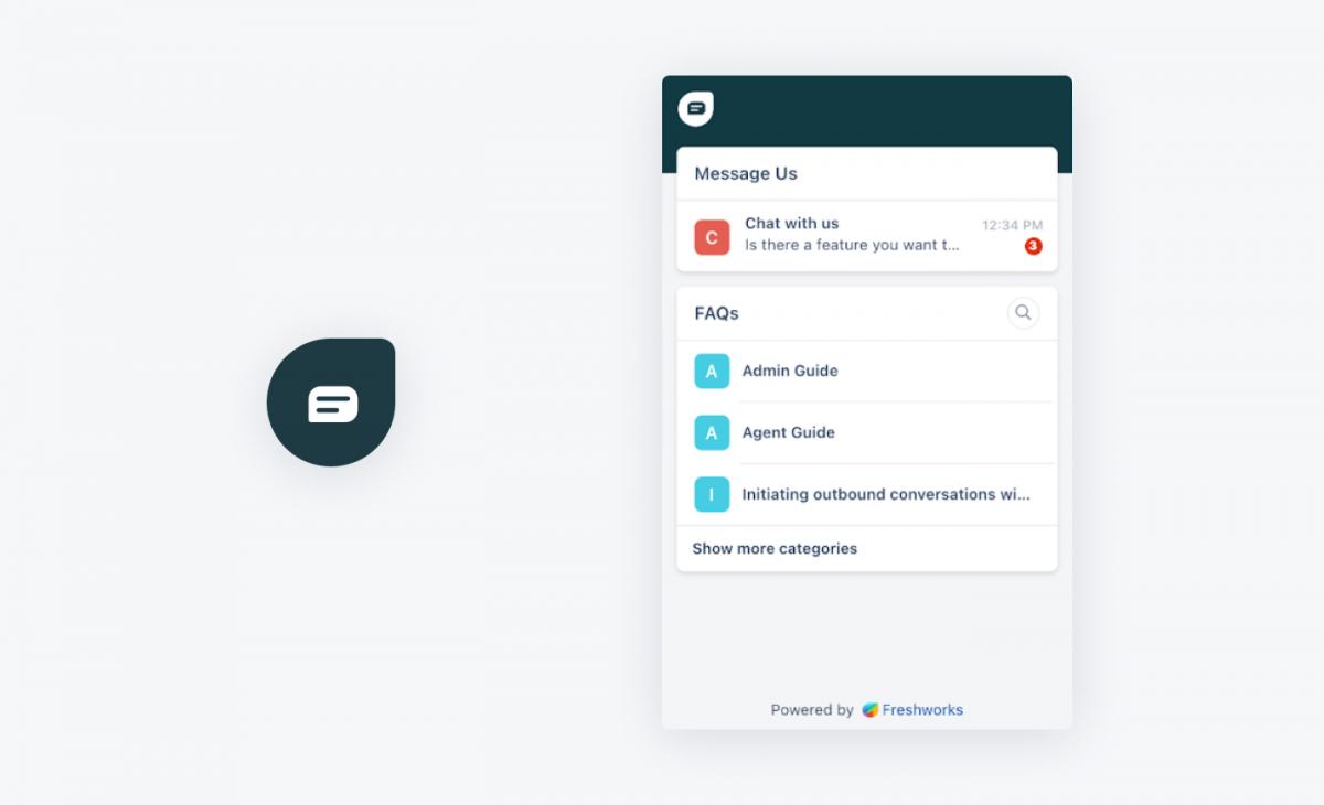Freshdesk chat widget and icon