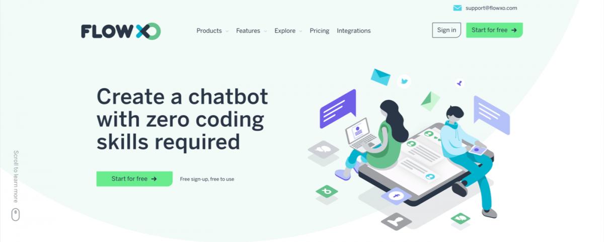 AI chatbot service - Flow XO