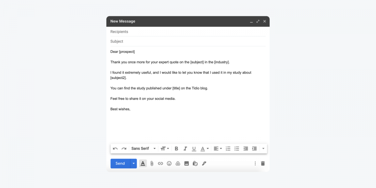 How to create a message in Gmail