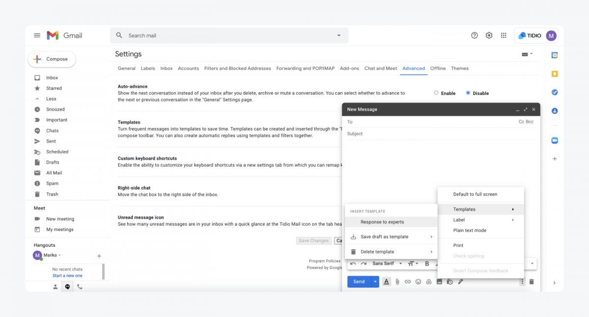 How to create a template in Gmail
