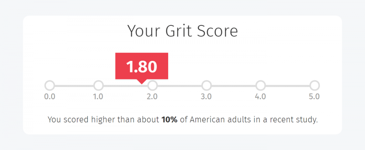 Grit score results example