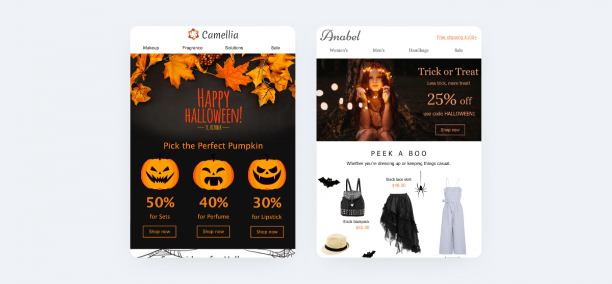 Halloween email templates for seasonal promotions