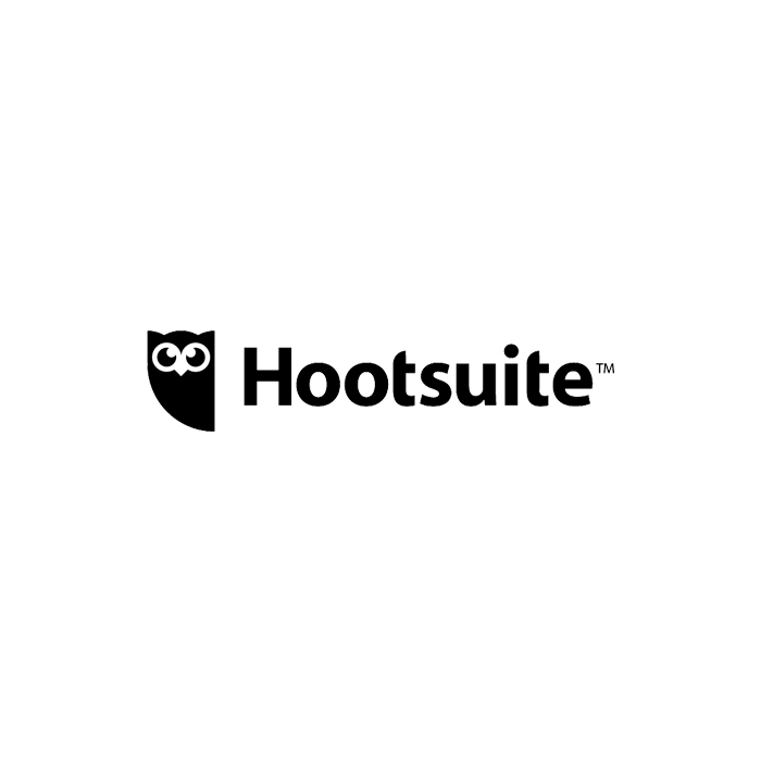 The logo of Hootsuite