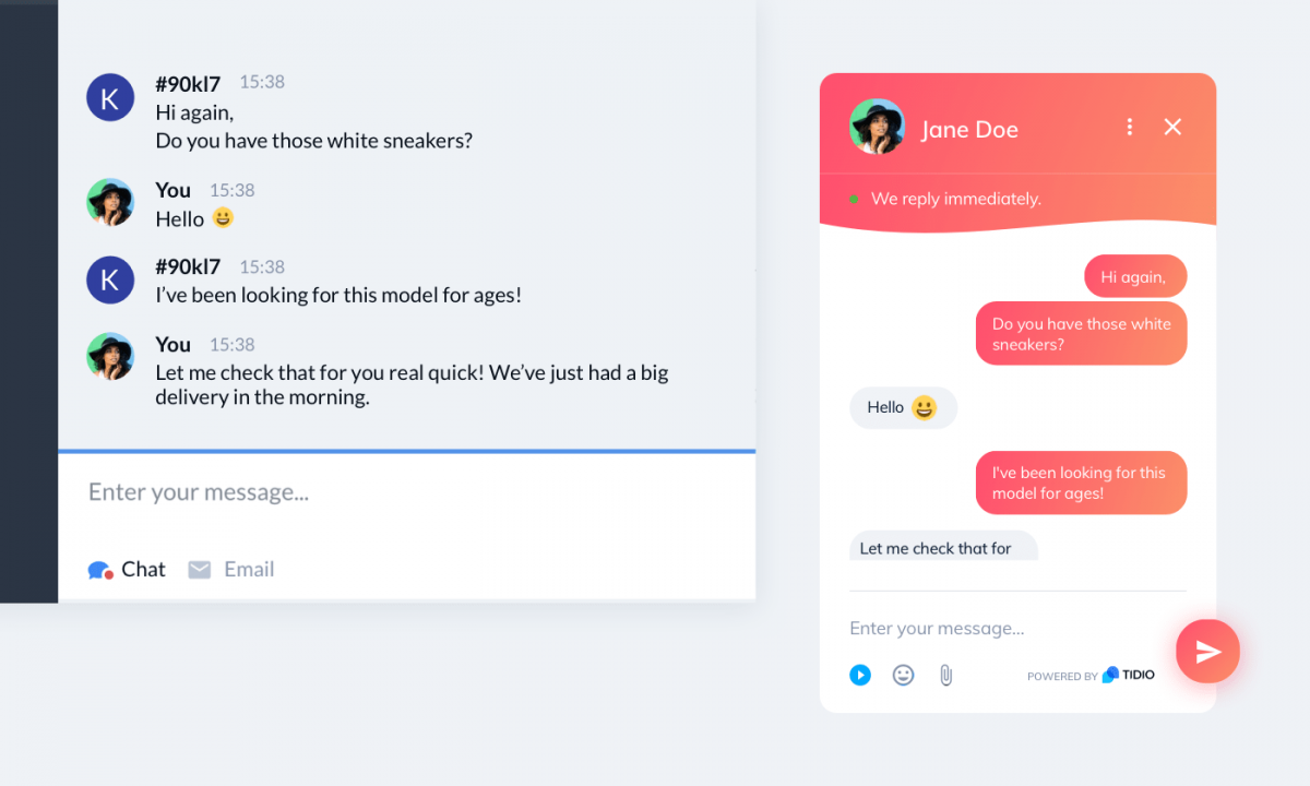 Live Chat design