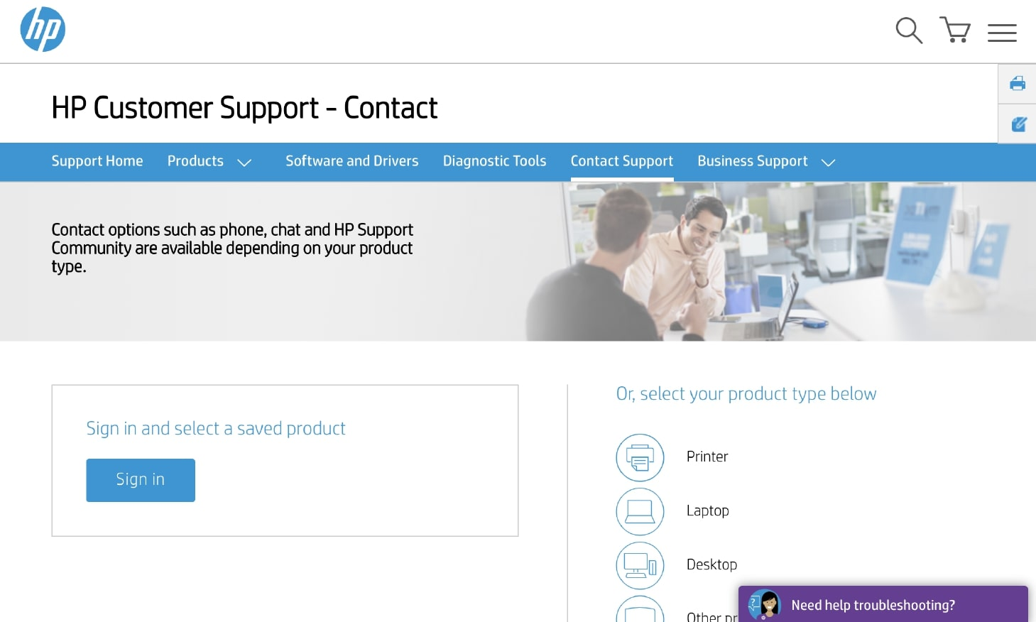 Example of Using Live Chat Customer Service by HP