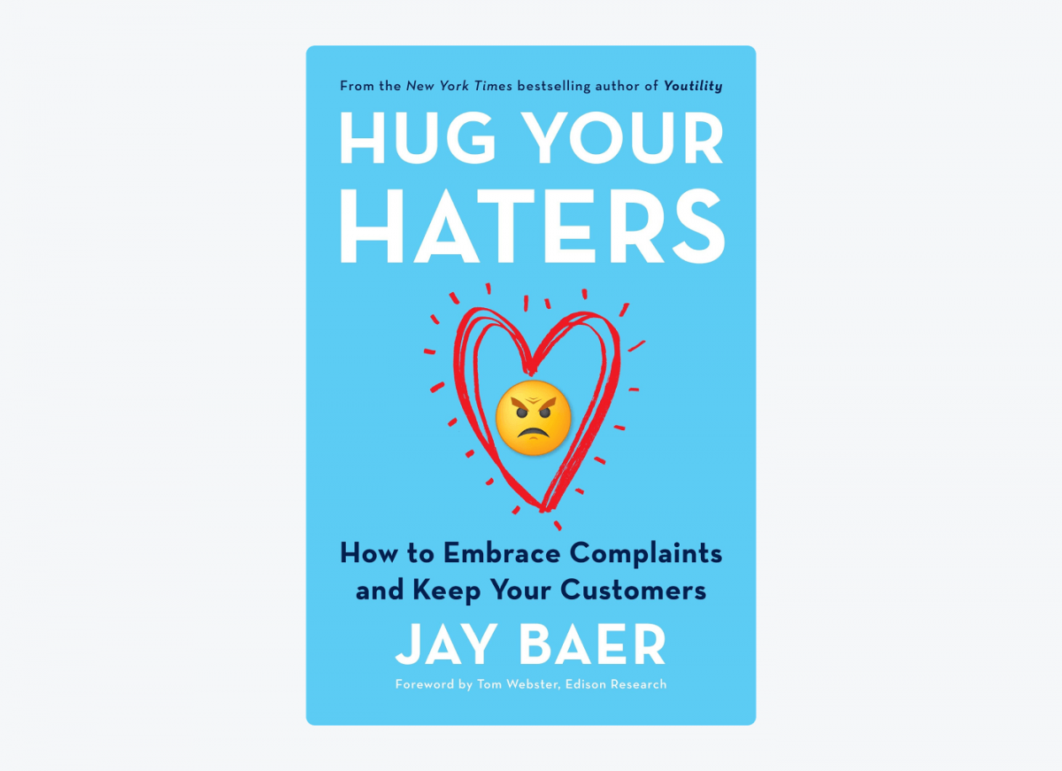 """Image of the """"Hug your haters' book cover"""