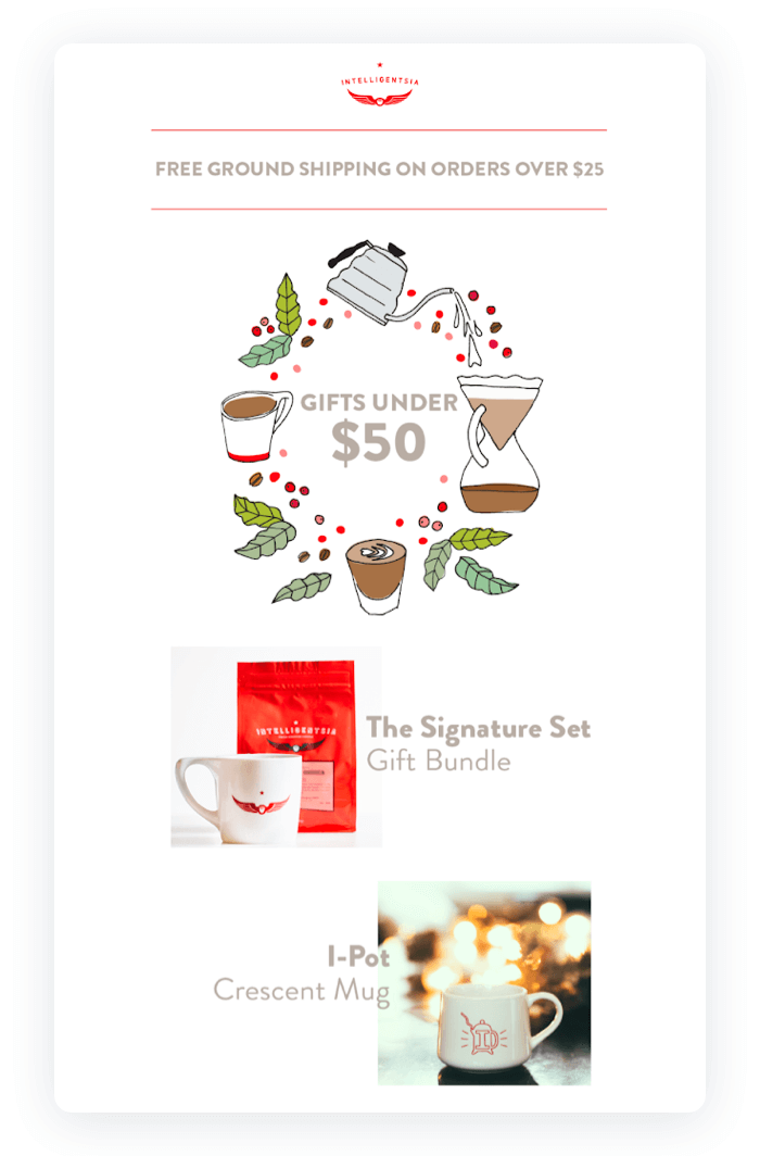 Email design example from Intelligentsia Coffee
