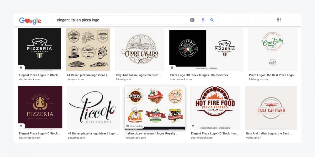 Image search results for elegant italian pizza logo