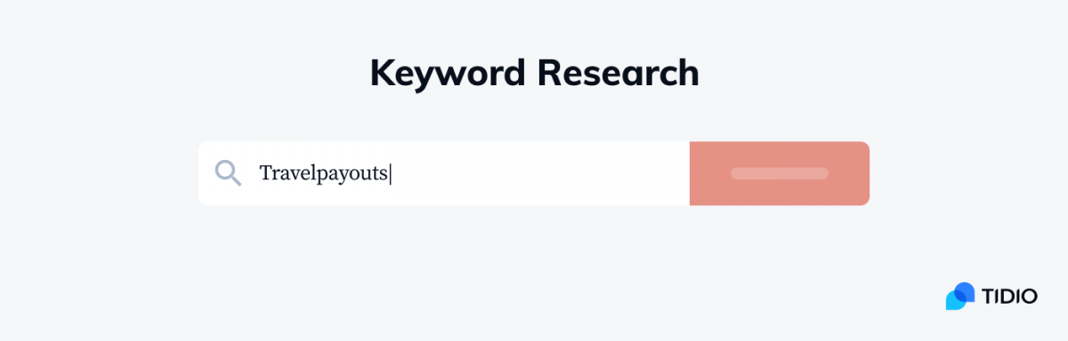 A decorative image that visualizes keyword research