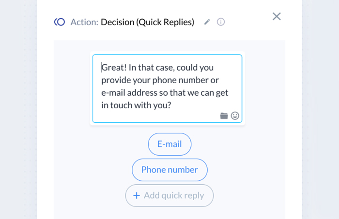lead generation chatbot: decision