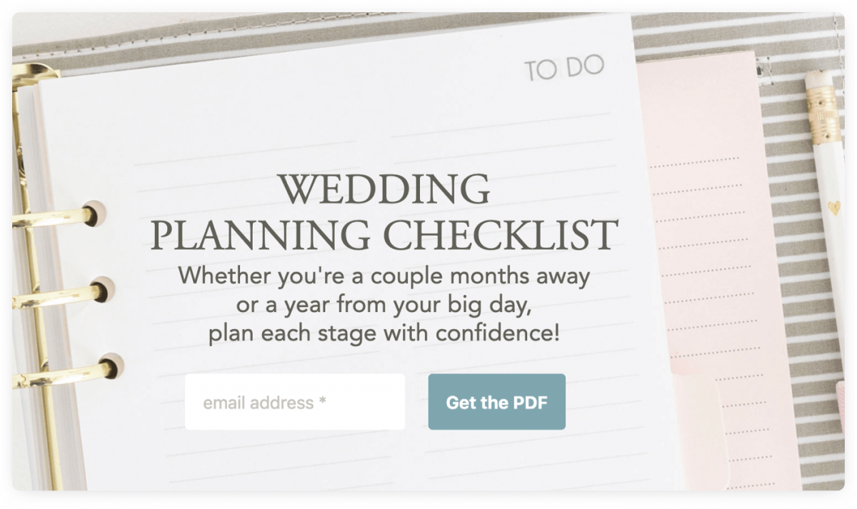 A checklist lead magnet example