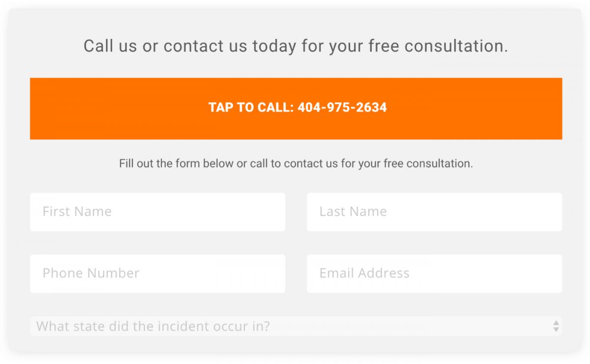 A free consultation register form
