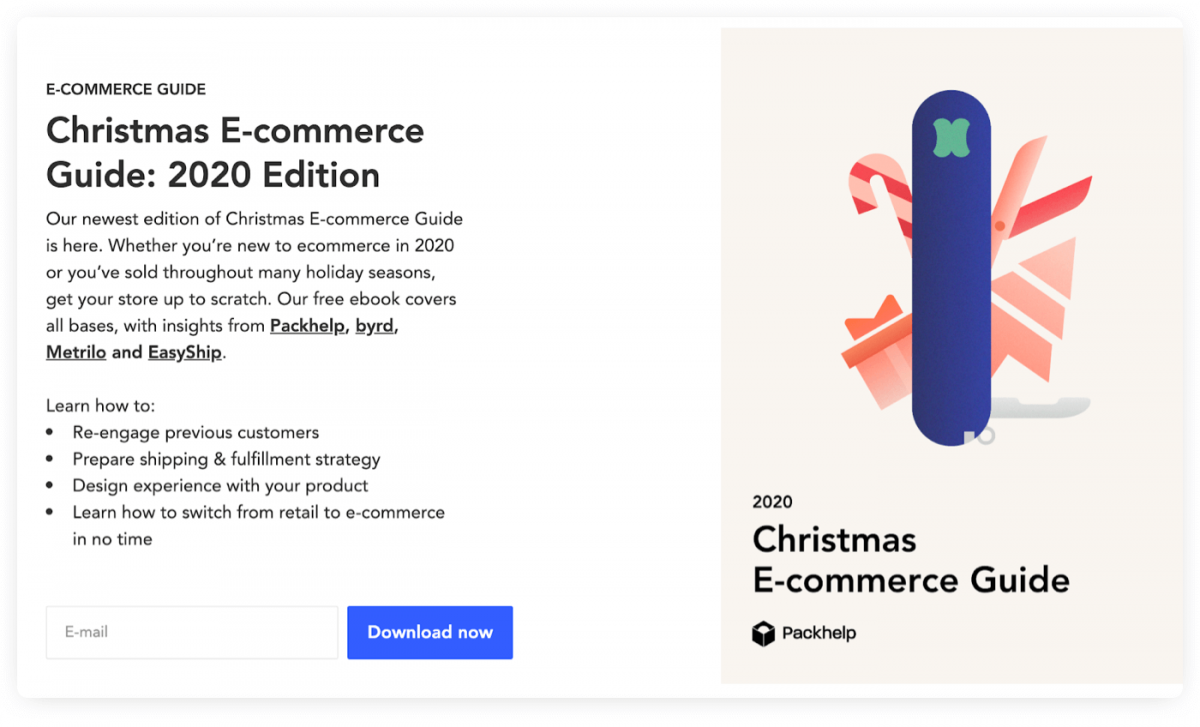 Christmas eCommerce Guide from Packhelp