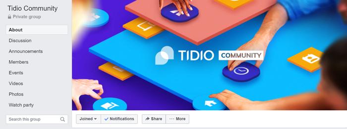tidio live chat community