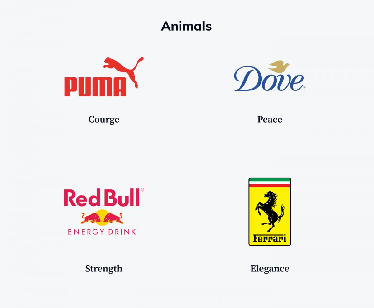Animal styled logo examples