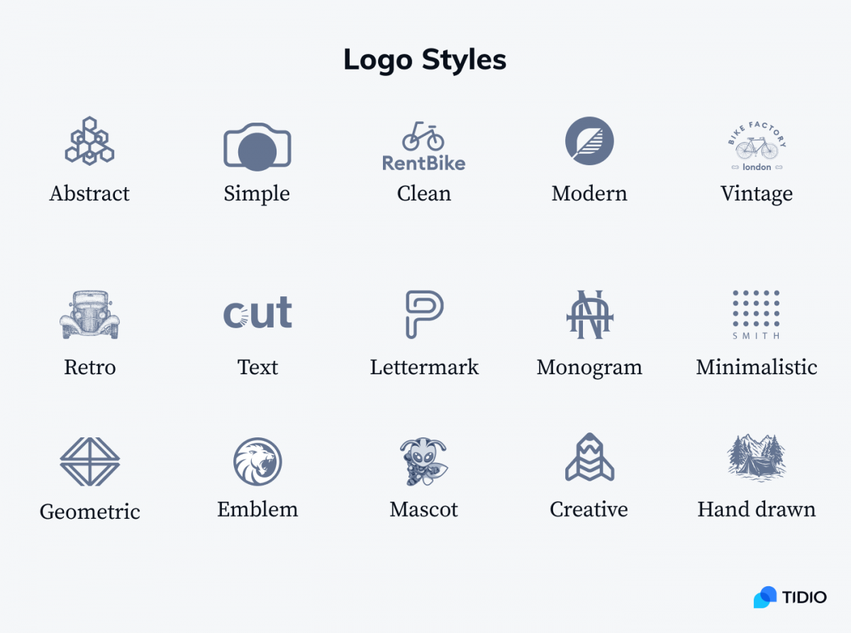 Logo styles examples