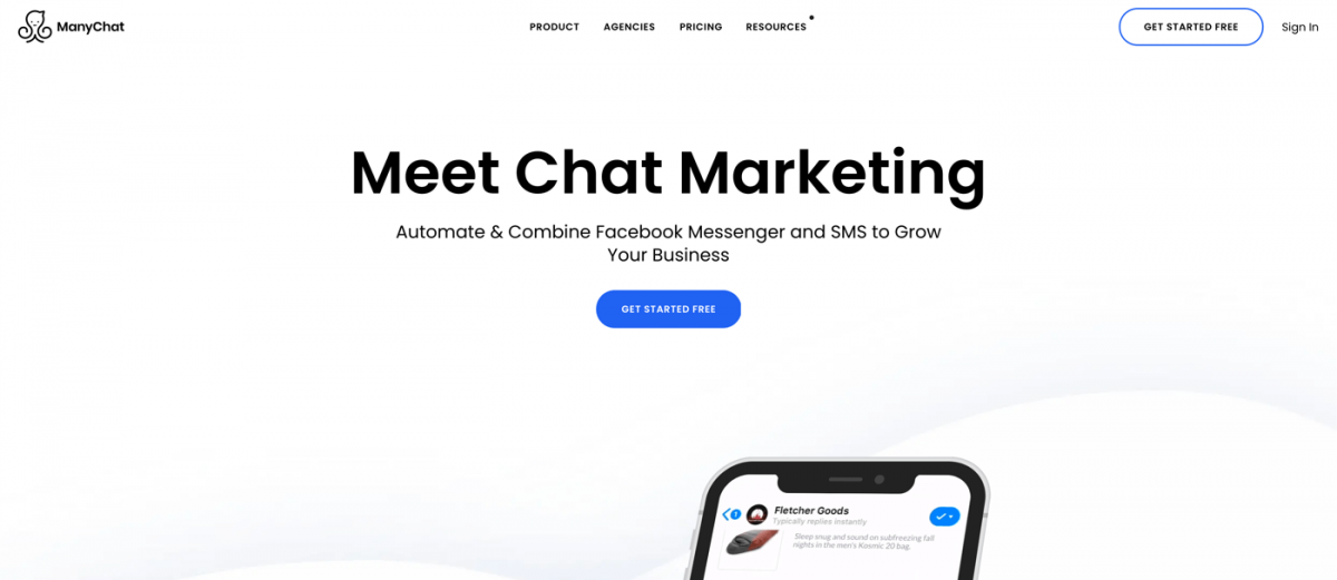AI chatbot service - ManyChat