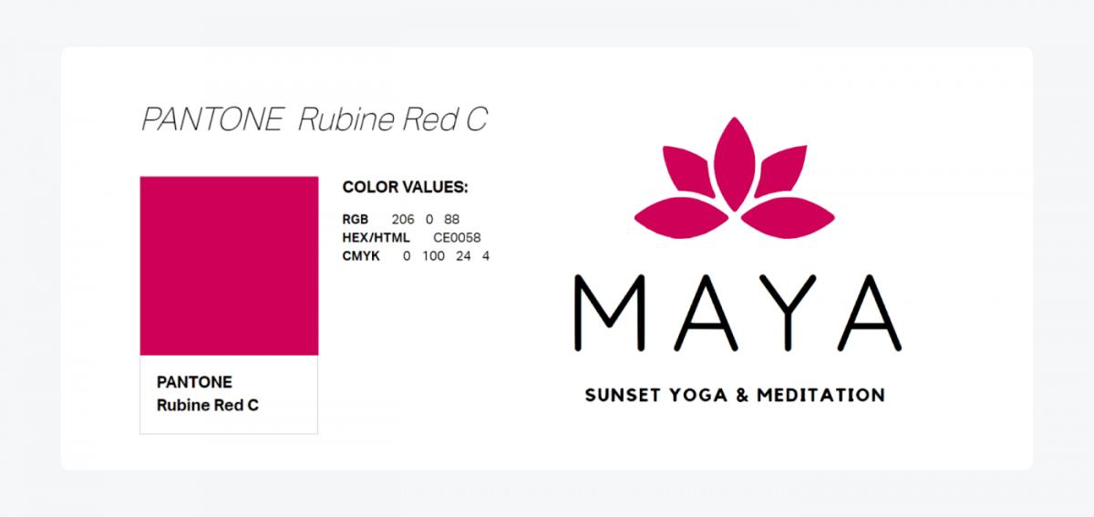 Primary color in Maya's logo