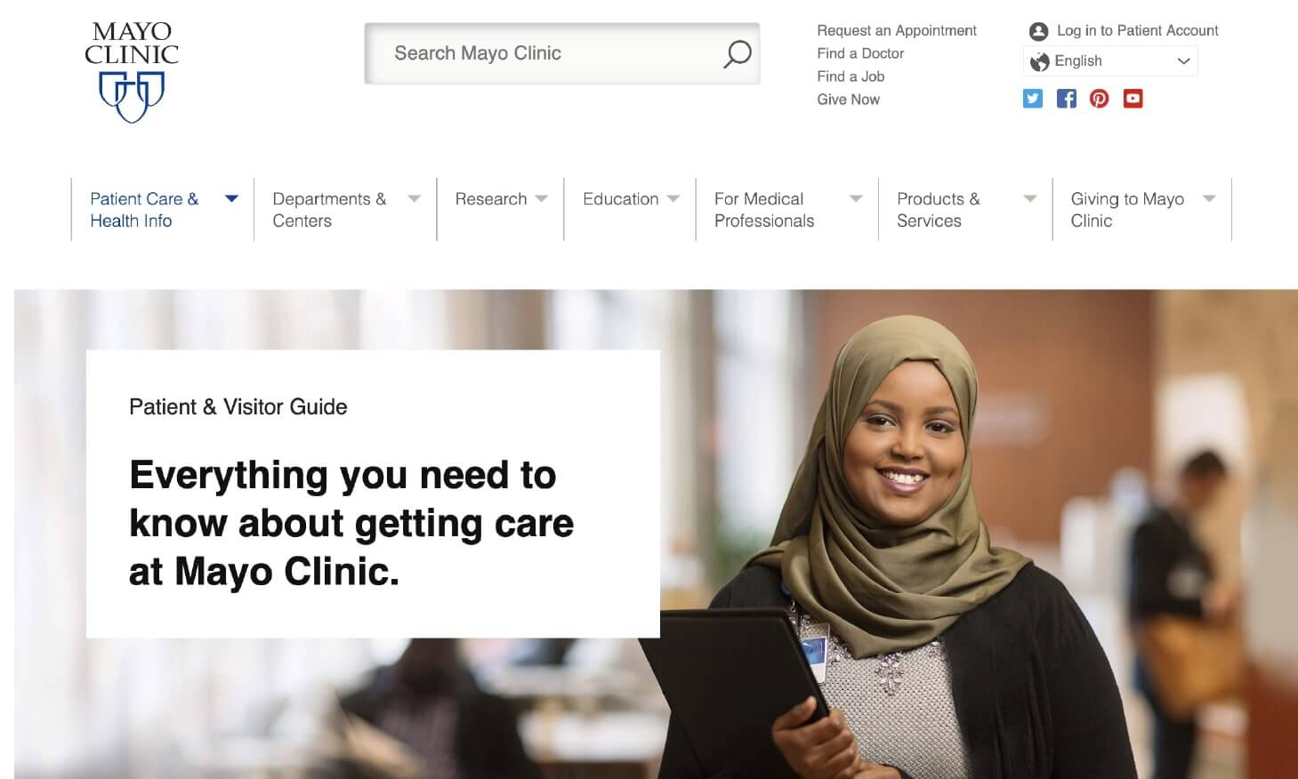 Example of Using Customer Self-Service by Mayo Clinic